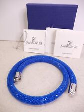 Signed Swarovski Bracelet Stardust Royal Blue 5184789 In Box