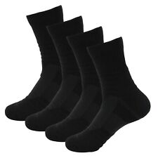4 Pairs Mens Athletic Cotton Casual Dress Long Black Breathable Crew Socks Lot