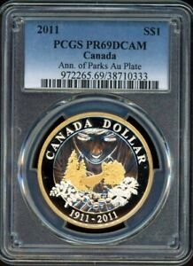 2011 $1 PCGS PR69DCAM - 100th Anniversary of Parks, gold plated