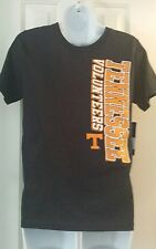 NWT~PROEDGE~OFFICIALLY LICENSED~BOYS~BLACK~TENNESSEE VOLS SHORT SLEEVE TEE SZ L