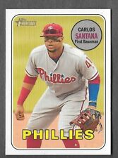 CARLOS SANTANA 2018 Topps Heritage High Number SP ACTION Variation #711 PHILLIES