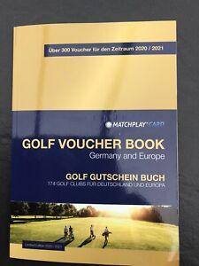 Greenfee Golf Gutscheinbuch, Golf Voucher Book Matchplaycard gültig bis 31.12.21