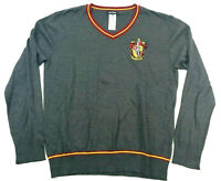 Harry Potter Mens Gryffindor Pullover Sweater Grey XL