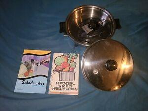 "Saladmaster 11"" Electric Skillet Pan Oil Core Vapo Lid #7815 1150 Watts + Cord"
