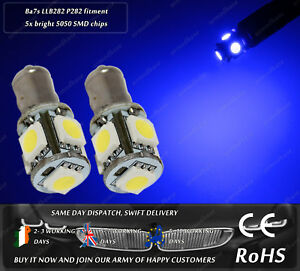 Ba7s P282 283 L72 Lucas LLB282 LED SMD Xenon Blue Dash DC Speedo Light Bulbs
