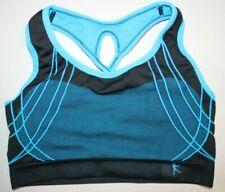 Womens Danskin Now Athletic Racerback Sports Bra Top Large Blue Black Yoga Gym
