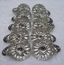 10 Vintage Silver Tin Metal Pine Cone Christmas Tree Clip-On Candle Holders