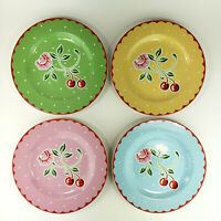 "Sakura Mary Engelbreit Cherry Blossom 8"" Salad Dessert Plates Set of 4 Kitch"