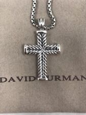 "David Yurman Large Chevron Cross Plus David Yurman Chain 2.7mm/22"""