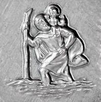 Christopherus Heiliger St. Christophorus mit Jesuskind Metall Relief 3D Emblem