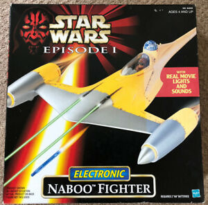 STAR WARS EPISODE 1, ELECTRONIC NABOO FIGHTER, HASBRO, SEALED BOX