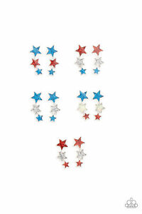 Paparazzi Starlet Shimmer 4th Of July Earrings Set of 5 ~ ⭐️NEW RELEASE 2021⭐️