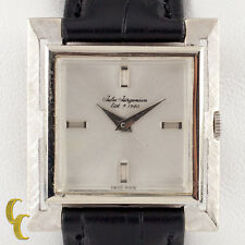 Jules Jurgensen 14k White Gold Mechanical Hand-Winding Watch w/ Leather Band