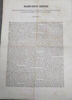 1846 ECCEZIONALE DOCUMENTO MINIERA DI MONTEBAMBOLI E STRADA FERRATA TORRE MOZZA