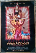ENTER THE DRAGON VIDEO MOVIE POSTER 1 Sided ORIGINAL ROLLED 27x40 BRUCE LEE