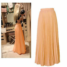 Chiffon Long Solid Maxi Skirts for Women