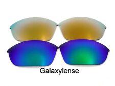 Galaxy Lentes De Repuesto Para Oakley Half Jacket Gafas de sol verde y oro