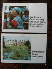 Norfolk Presentation Pack 1980 NP3 Queen Mother Sandringham Flower Show Postcard