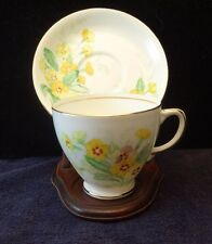 Old Royal Bone China, Cup & Saucer Set,  Yellow  Flowers, Delightful !
