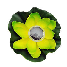 Solar Power 7 Colour LED Fontana galleggiante verde notte con luce di loto