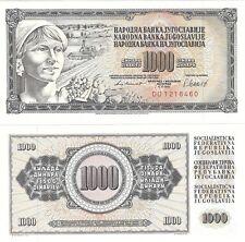 JUGOSLAVIA 1000 Dinara 1981 P-92d NEUF UNC FIOR delle banconote