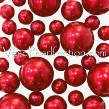 Floating No Hole Red Pearls - Jumbo/Assorted Sizes Vase Decorations