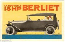 POSTCARD FRENCH AUTOMOBILE BERLIET 15 HP
