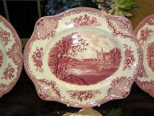 große Platte Servierplatte 30 cm Johnson Bros England Old Britain Castles rot