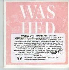 (CV542) Washed Out, Amor Fati - 2011 DJ CD