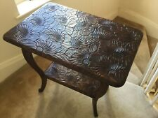 "LARGE LIBERTY'S LONDON JAPANESE CARVED SIDE TABLE Circa 1900. L 30"" W 20"" H 28"""