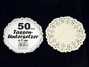 20 x 50 Tassenuntersetzer = 1000 Stück aus Papier, Tortenspitze, Tortendeckchen