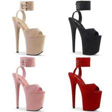 "PLEASER Flamingo-891 Faux Suede Stripper Pole Dancer Club 8"" Heels US Size 5-14"