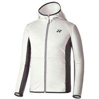 Yonex Men/'s Fur Jacket Ivory Badminton Racket Racquet Shuttlecock NWT 93WU011M
