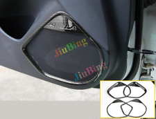 4X For Mazda 3 Axela 2014-17 Carbon Fiber Car Door Loudspeaker Horn Cover Trim x