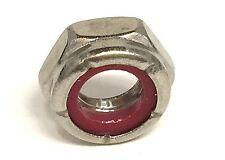 Stainless Steel Nylon Insert Jam Thin Lock Nut 3/8-16 Qty 100