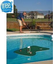 Floating Golf Green Putting Pool Poolside Aqua Patio Backyard Practice Mat Game