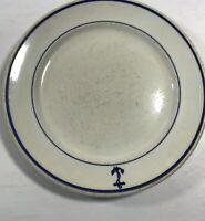 "Buffalo China Vintage Blue Anchor USA Restaurant Dinnerware 1pc Dinner Plate 9"""