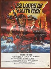 Affiche LES LOUPS DE HAUTE MER North Sea Hijack ROGER MOORE 40x60cm *D