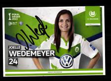 signiert Joelle Wedemeyer VfL Wolfsburg Frauen 2014//15 AK orig