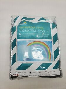 """Waterproof Crib Mattress Pad Cover Pack N Play 39"""" x 27"""" Fitted Pad Grey"""