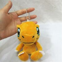 "5"" Digital Monster Digimon Adventure Agumon Plush Toy Stuffed Doll Keychain 1PC"