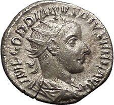 "GORDIAN III 241AD Ancient Silver Roman  Coin Hero ""Farnese"" Hercules i57495"