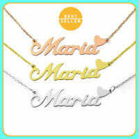 Personalized Name Necklace Customized Name Plate Pendant Jewelry Gift For Women