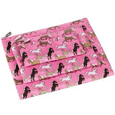 Wildkin Horses in Pink 3-Piece Organiser Set / Document Wallet / Pencil Case