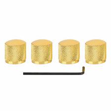 4 Metal Electric Guitar Bass Tone Volume Knob Bronze Dome Knurled Speeed Golden