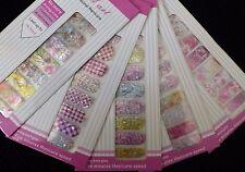 Nail Art BlinG Sparkle Holographic Glittery Nail Wraps Full Cover Polish Sticker
