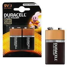 2x Duracell 9 Volt Alkaline Batteries Pp3 9v Plus Power Battery for Smoke Alarms