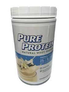 Pure Protein Powder, Natural Whey French Vanilla 1.6 lbs Exp. 4/21
