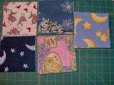 "55 flannel fabric squares 4 1/2"" x 4 1/2"" - as shown in the picture SQ1709"