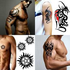 4 Fogli Tatuaggio Adesivo Con Grande TOTEM Body Art Uomini 3d Big Dragon Tatuaggi Temporanei